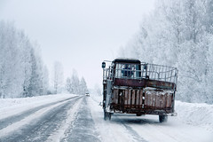 (dSavin) Tags: tractor car price truck lights mirror movement junk frost russia tire edge transportation transit driver sidemirror petrol trailer headlamp sat cart economy rate snowremoval densecloud ipb  2011     throughthewoods  oncomingtraffic    weatherconditions      otherrussia     yaroslavlregion   countermachine snowedge  reshotki automotivetheme