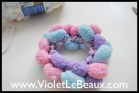 Pompom Hair Band Tutorial 2