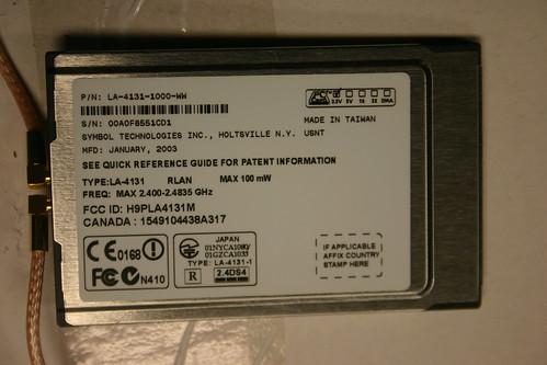 PCMCIA Wifi Card