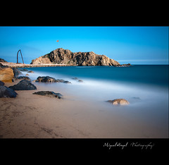 Sa Palomera. (mireba72) Tags: blue sea seascape beach azul mar spain catalunya calma costabrava blanes sapalomera top20colorpix top20colorpix20