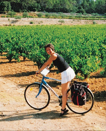 Cattherine Crone on an early cycling holiday in France.