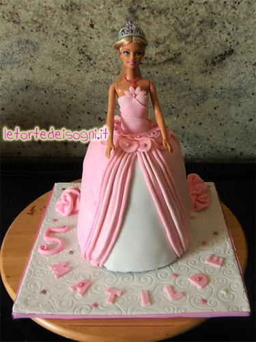 Barbie cake for a 5th birthday