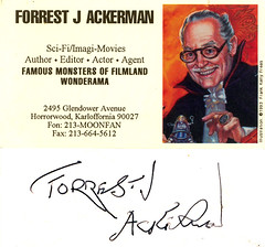 Forrest J Ackerman, 1994 (Jason Willis) Tags: autographs famousmonsters ackermonster filmland forrestackerman