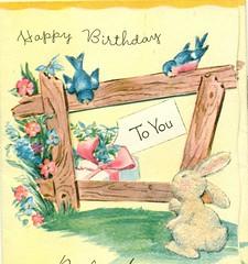 Happy Birthday to You (reinap) Tags: birthdaycard vintagebirthdaycard childsbirthdaycard