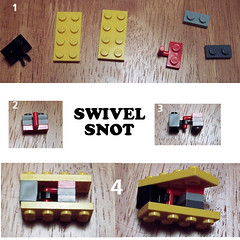 SWIVEL SNOT (thwaak) Tags: lego top yadda technique snot studs on swivel not