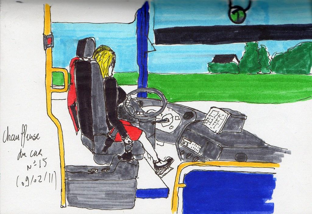 chauffeuse du car n jonjon tags bus car dessin fille. Black Bedroom Furniture Sets. Home Design Ideas