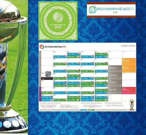 icc world cup 2011 schedule with time. ICC Cricket World Cup 2011