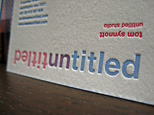 Letterpress Overprint Business Cards - Untitled