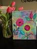 You Make Me Smile and Tulips (Jill's Dream by Jill Lambert) Tags: pink flowers tulips originalpainting youmakemesmile jillsdream