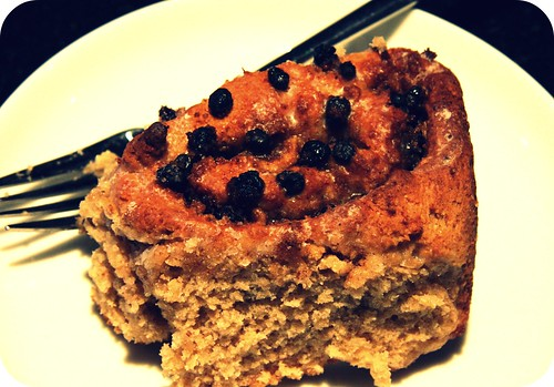 cinnamon-currant roll