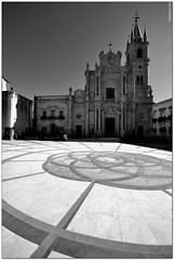 Acireale - Ground patterns (ciccioetneo) Tags: bw italy white black church nikon italia view angle patterns wide sigma ground structure bn architectural sicily 1020mm catania sicilia acireale d3100 ciccioetneo
