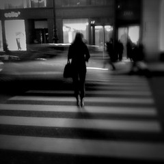 Between [iflickr] (photo & life) Tags: street city urban paris france night 3g opéra rue nuit ville between urbain iphone iphone3g lomob iphoneography