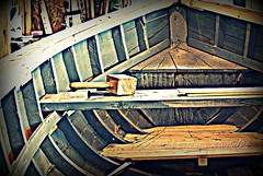 Looking forward (Jean Knowles) Tags: newfoundland stem crossprocess deck ribs arr woodenboat mallet geotag vignette rodney allrightsreserved baybulls gunwales thwart newfoundlandandlabrador strakes nottobeusedwithoutmypermission 2011jeanknowles caulkingiron genemaloney