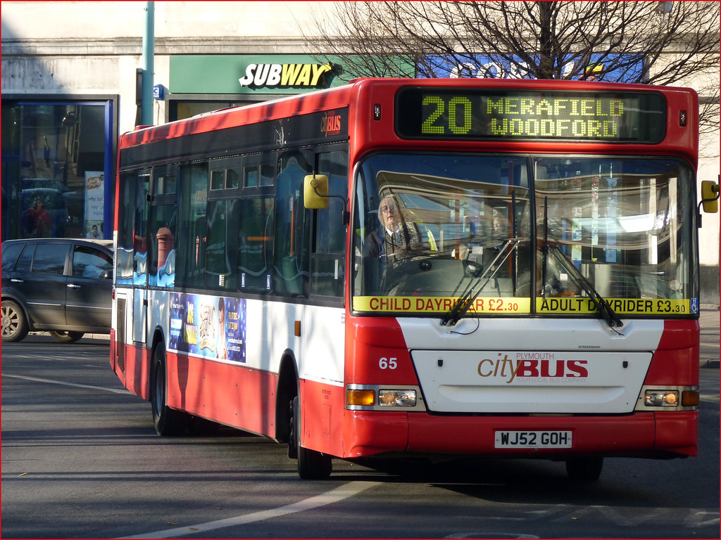 Plymouth Citybus 065 WJ52GOH 15 December 2010 Derrys Cross
