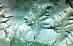 Alien Face hidden to look like mountains in Canada, Google Earth discovery, UFO sighting news. (DragonRal) Tags: new mars canada ancient indian alien ufo aliens species evidence et ancients 2012 sighting alienface ebe 2011