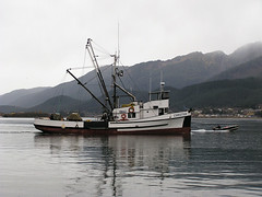 Christian Crabbing (Gillfoto) Tags: fish water seine work boat fishing raw working lifestyle christian catch troll produce hook fishingboat find bait rugged chum resource southeastalaska saltwater haulout fishery pullout trawl quota commercialfishingboat commercialboat alaskafishingboat classicfishingboat