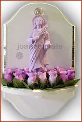 oratório Luzia (joanatomate) Tags: tiara flores santaluzia mandala feltro guadalupe madeira fita gancho trevo sãofrancisco oratório portachave matrisoka sãojudas coraçãotecido