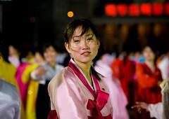 DANSEUSES AU BAL DU 15 AVRIL A PYONGYANG, COREE DU NORD - Eric Lafforgue (mapphoto) Tags: koreanpeninsula asia asie coreedunord northkorea rdpc dprk axisofevil juche juchesocialistrepublic dictature voyage travel eastasia democraticpeoplesrepublicofkorea ideology pyongyang festival spectacle dance bal danseurs dancers sourire smile visage face portrait northkorean seduisante jolie femme fille feminine sexy cute dress robe joseonot hanbok feminin woman girl northkoreans horizontal color coleur colour insidenorthkorea 2008 couleur koreanethnicity traditionalclothing custom soir nighttime lookingatcamera