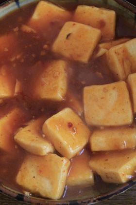 絹ごし豆腐のチリソース