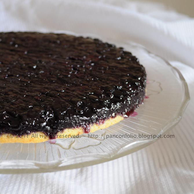 torta rovesciata ai mirtilli