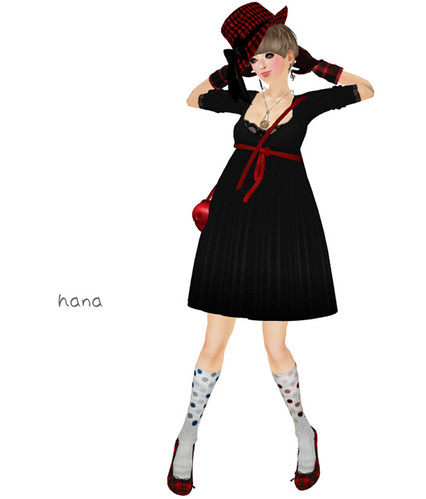 (Slow Kitchen)Fancy_dot_swing_dress