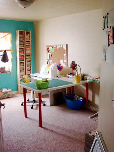 rearranged sewing room