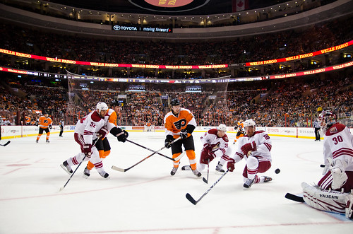 Philadelphia Flyers shot with Nikon D7000