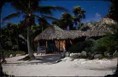 Our Cabana by Moonlight (Jonmikel & Kat-YSNP) Tags: longexposure winter sea vacation beach night mexico yucatan tulum fullmoon hut cabana caribbean february quintanaroo cabanascopal