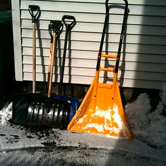 New fangled snow shovel