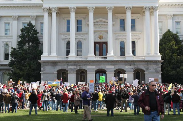 Photos of WI Solidarity Rally in Sacramento, CA