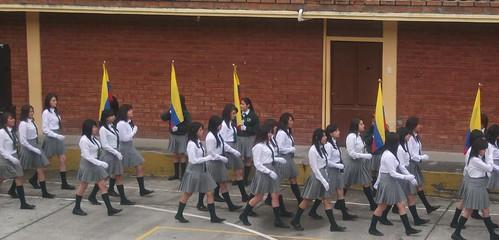 El himno nacional del Ecuador,