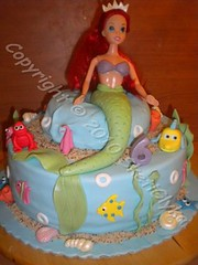 Disney Ariel Cake (Niki SG) Tags: cookies cake cupcakes baptism bithday     sketiglykagr  wwwsketiglykagr