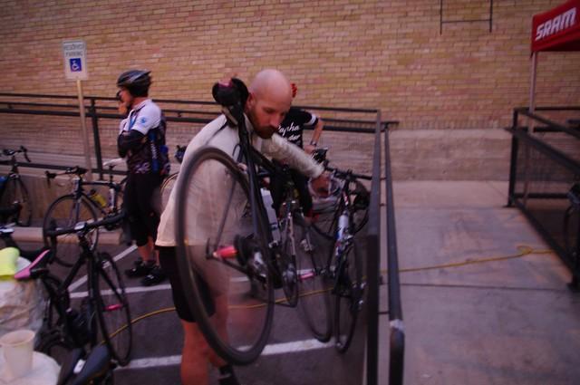 Cole, human bike stand
