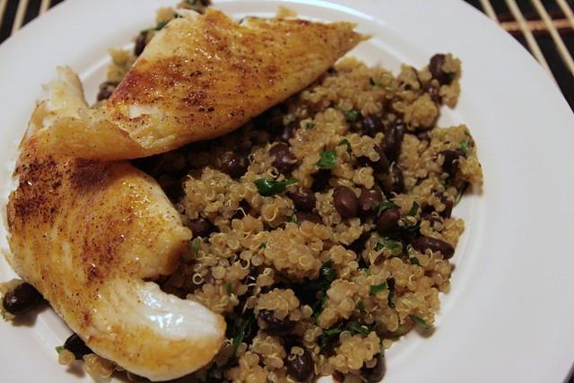 tilapia and black bean quinoa