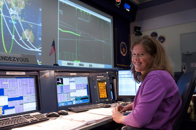 Me On Console for STS-133