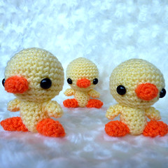 Amigurumi Little Chicks (cutedesigns) Tags: orange cute birds yellow easter spring handmade crochet craft plush yarn kawaii chicks amigurumi