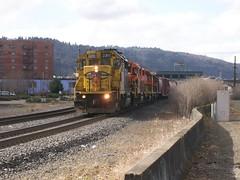 The W&P train in the sun