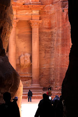 Petra .. entering another world -   (Ghadeer Q) Tags: travel history architecture canon petra treasury sightseeing siq sacred canon70200 thesiq kingdomofjordan   ghadeerq