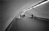 perekhod #5 - kyiv (chirgy) Tags: lines station lights metro tube ukraine curve kiev exchange kyiv hump olympusxa threemen 1043 stride perekhod autaut onewomansellingflowers
