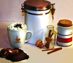 Coffee Break: Illustration for Article (faith goble) Tags: pink art coffee yahoo artist photographer kentucky ky faith whippedcream sugar article poet copper writer porcelain grounds glassjar bowlinggreen ladle cinnamonsticks cannister goble gratedchocolate faithgoble gographix woodenstopper faithgobleart
