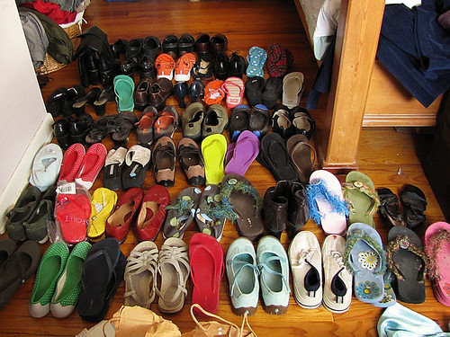Project Simplify week 1 - Shoe collection before