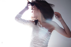 Paper aeroplane. (Melania Brescia) Tags: light portrait white girl tattoo hair 50mm dress natural lace melania brescia