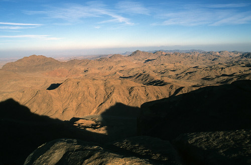 View from the summit of Mount Sinai, Egypt