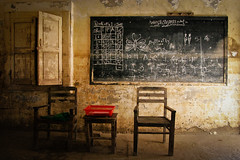 Flood-damaged classroom (Lil [Kristen Elsby]) Tags: unicef school pakistan topf25 education asia village classroom room class editorial dadu damaged topv11111 destroyed blackboard sindh floods reportage southasia documentaryphotography monsoonfloods reejhpur