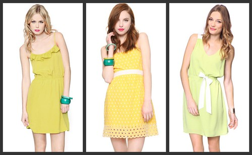 yellow dress collage