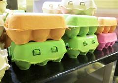 Colourful egg cartons (c_beau) Tags: food paris eggs eggcarton