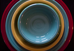 fiestaware stack004 (swardraws) Tags: colorful dishes fiestaware