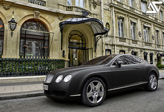 Bentley Continental GT (A.G. Photographe) Tags: plaza black paris france nikon continental mat ag gt nikkor franais hdr bentley matte parisian anto photographe xiii parisien 2470mm28 athne d700 plazaathne antoxiii hdr9raw agphotographe