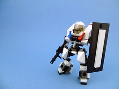 Riot Class Hardsuit (Freedom01) Tags: white 3 out im lego hard police running suit moc oftags totype