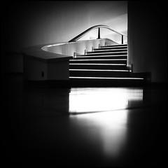Stai-rs (B.e.l.i.v.o) Tags: light shadow blackandwhite bw monochrome lines stairs square soft solitude loneliness calm minimalism vignetting greatphotographers vieteado flickraward